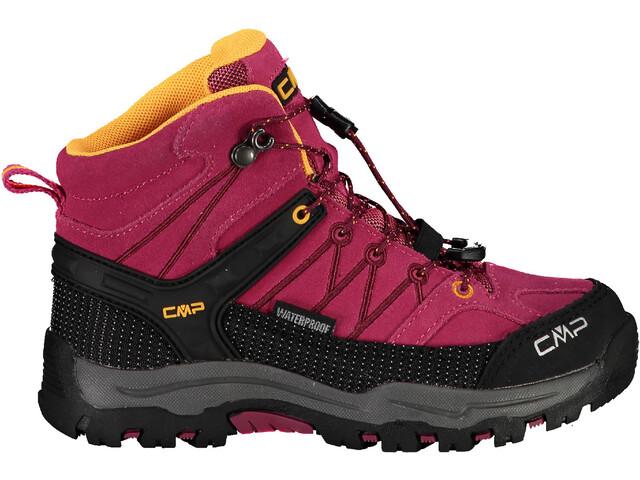 CMP Campagnolo Rigel WP Chaussures de trekking mi-hautes Enfant, bouganville/goji